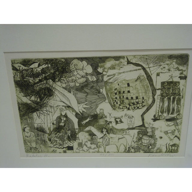 Americana Circa 1980 Limited Edition Ralelain Iv Signed Print For Sale - Image 3 of 6