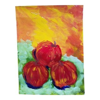 Apple Still Life Painting For Sale