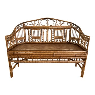 Brighton Caned Settee For Sale
