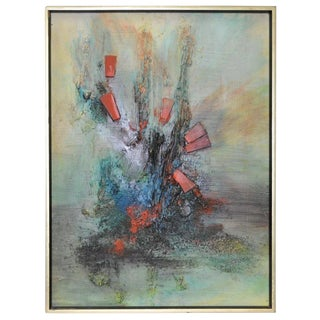Mid Century Modern Abstract Painting C.1960s For Sale