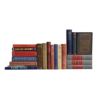 The Roosevelt's in History Vintage Book Collection - Set of Twenty Decorative Books