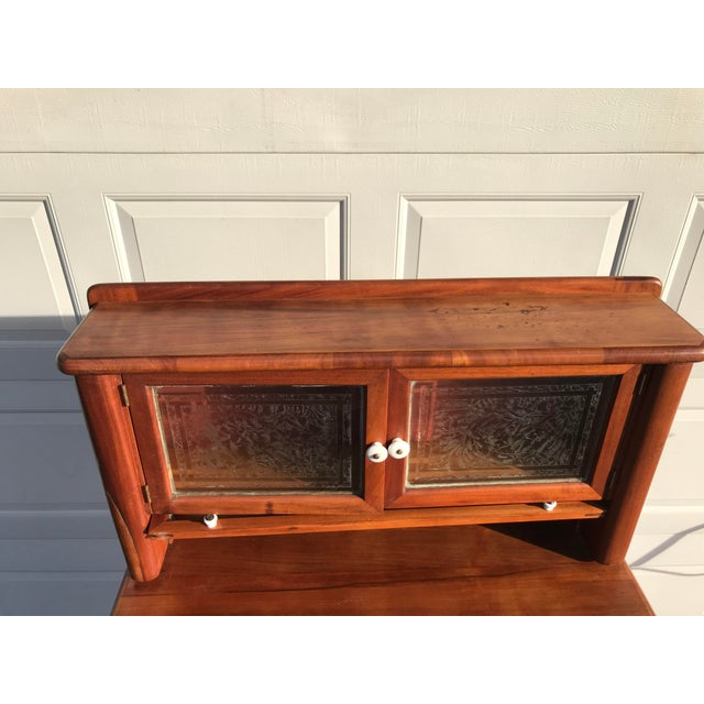 Early 20th Century Antique Art Deco Teak and Marble Dentist's Chest For Sale - Image 11 of 12