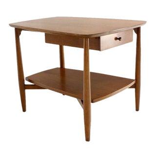 Mid-Century Modern Walnut End Table by John Stuart For Sale