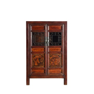 Vintage Hand Painted Cabinet For Sale
