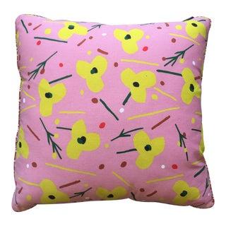 Posh Cushion La Grande Fleur Dark Rose Pillow For Sale