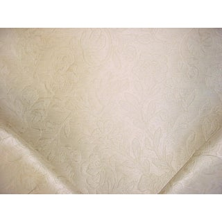 Traditional Kravet Couture Mikado Floral Blush Floral Silk Damask Upholstery Fabric - 2-1/4y For Sale
