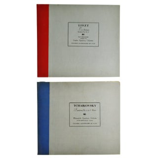Vintage Columbia Masterworks Tchaikovsky & Liszt 33 Rpm Record Sets For Sale