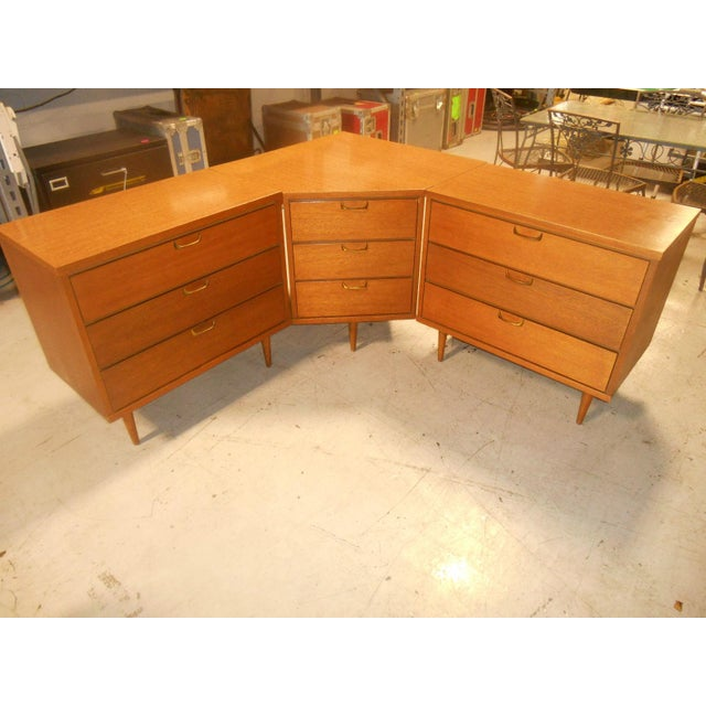 Mid-Century Danish Modern Corner Dresser Set - 3 For Sale - Image 4 of 7