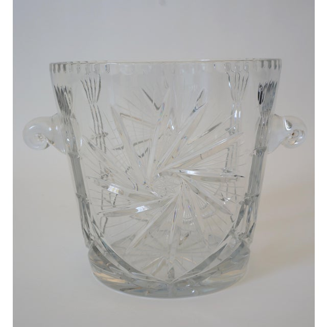 Vintage Ice Bucket Lead Crystal Pressed Design For Sale In West Palm - Image 6 of 13