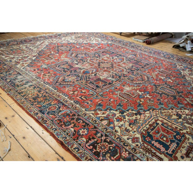 "Vintage Distressed Heriz Carpet - 8'11"" X 11'10"" - Image 10 of 10"