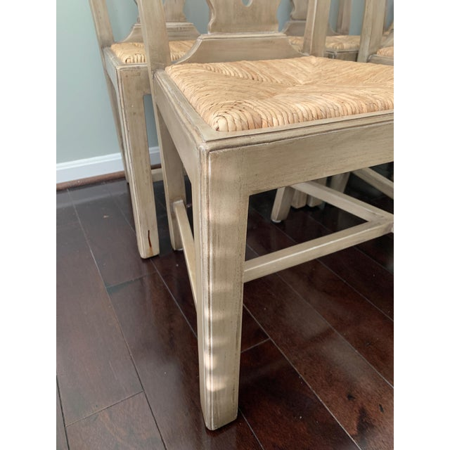 Designer English Country Dining Chairs - Set of 6 For Sale - Image 11 of 12