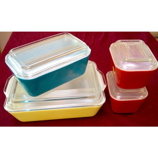 Mid-Century Pyrex Food Storage & Serving Dishes - Set of 4 - Image 2 of 6