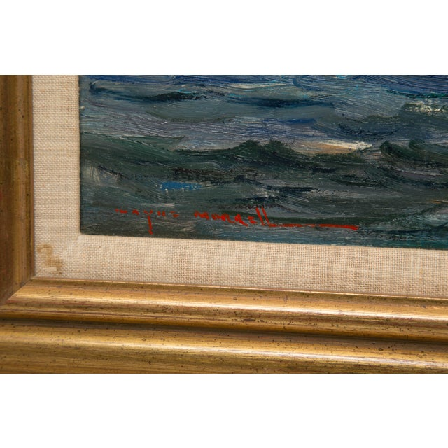 Paint American Marine Oil Painting on Board by Wayne Morrell For Sale - Image 7 of 7