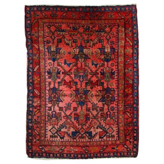 1920s Antique Persian Malayer Rug- 3′8″ × 5′ For Sale