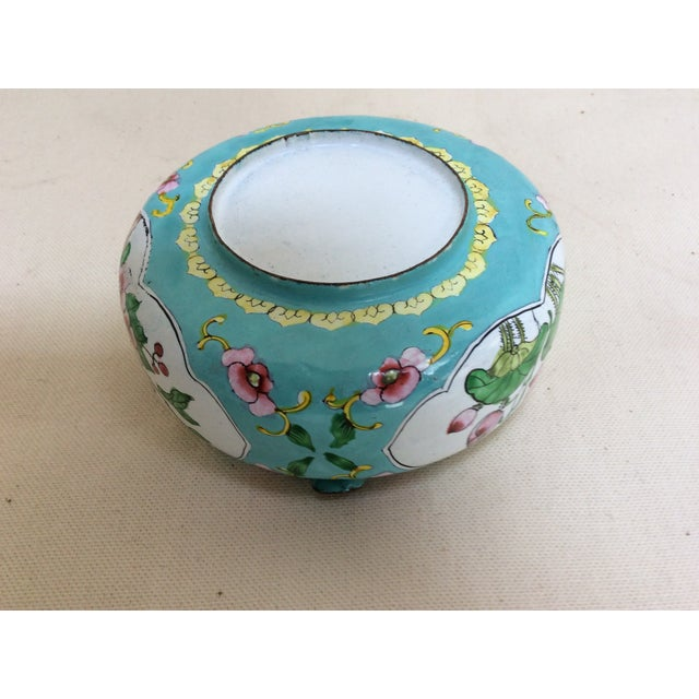 Canton Enamel Floral Ashtray For Sale - Image 5 of 8