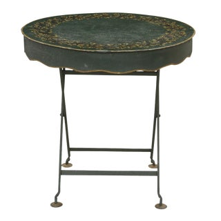 French Provencal Style Wrought Iron Drum Table For Sale