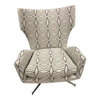 Danish Modern West Elm Hemming Swivel Base Arm Chair For Sale