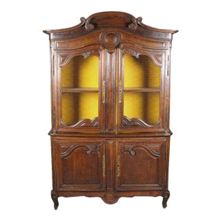 Louis XV Style Carved Oak Cabinet