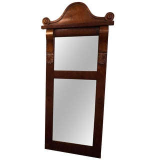 19th Century Biedermeier Mahogany Mirror For Sale