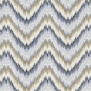 Sample - Schumacher Petit Feu Wallpaper in Greige For Sale