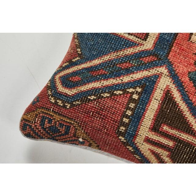 Antique Kazak Carpet Pillow For Sale In Los Angeles - Image 6 of 8