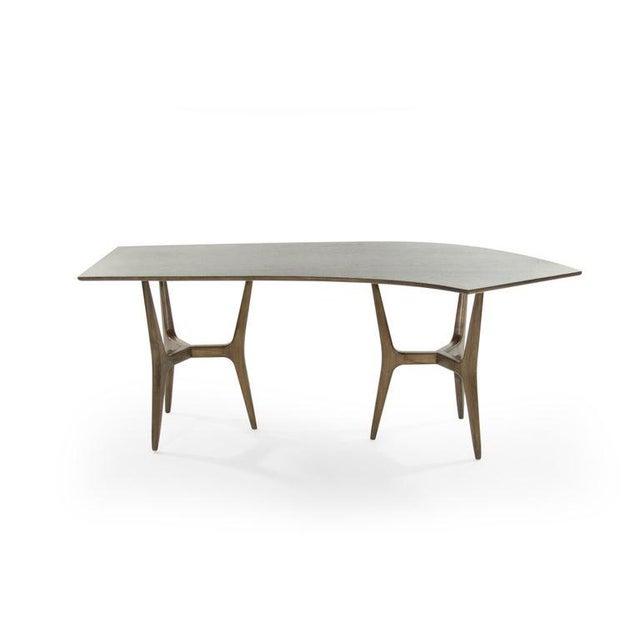 Danish Modern Mid-Century Modern Asymmetrical Walnut Desk For Sale - Image 3 of 13