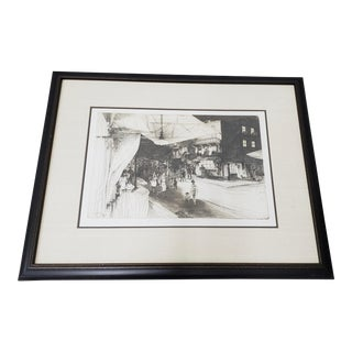 "John Winkler (California, 1890-1979) ""Night in Chinatown"" Original Etching C.1936 For Sale"