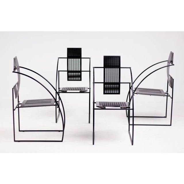 Black Set of Four Quinta Chairs, Mario Botta for Alias For Sale - Image 8 of 10