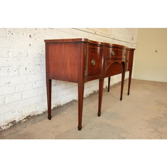 Brown Kittinger Hepplewhite Inlaid Mahogany Sideboard Buffet For Sale - Image 8 of 11