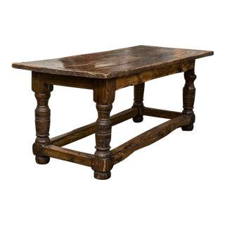 English Oak & Elm Centre Table For Sale