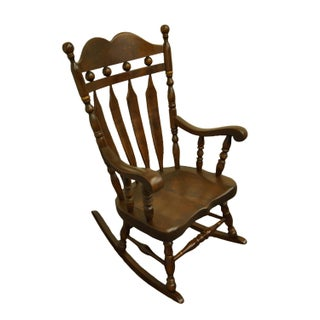 Ethan Allen Antiqued Pine Old Tavern Rocking Chair Preview