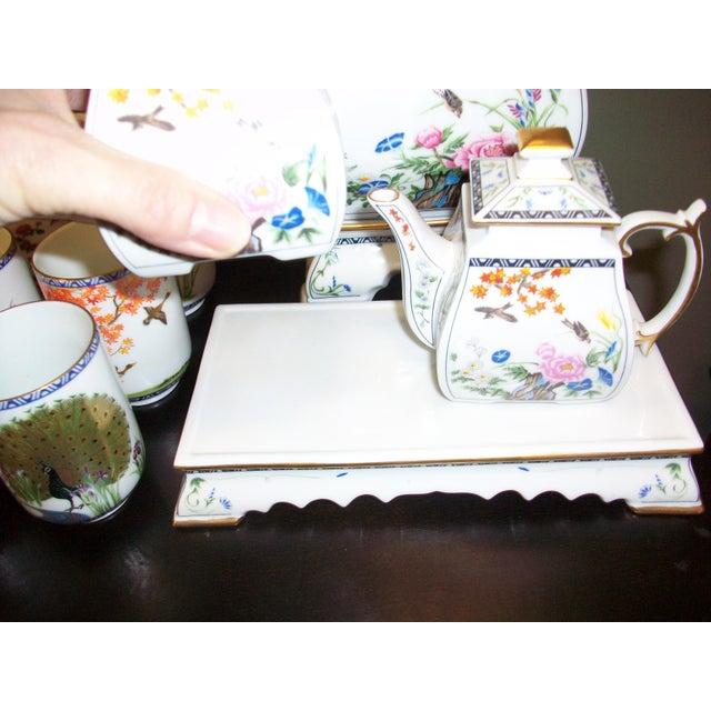 Franklin Mint Japanese Style Porcelain Tea Set - Image 4 of 11