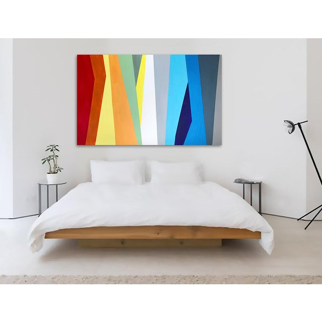 Canvas 'Prismatic' Original Abstract Painting by Linnea Heide For Sale - Image 7 of 8