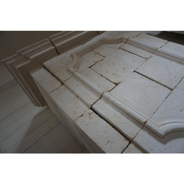 French Louis XIII Limestone Mantel with Trumeau For Sale - Image 3 of 6