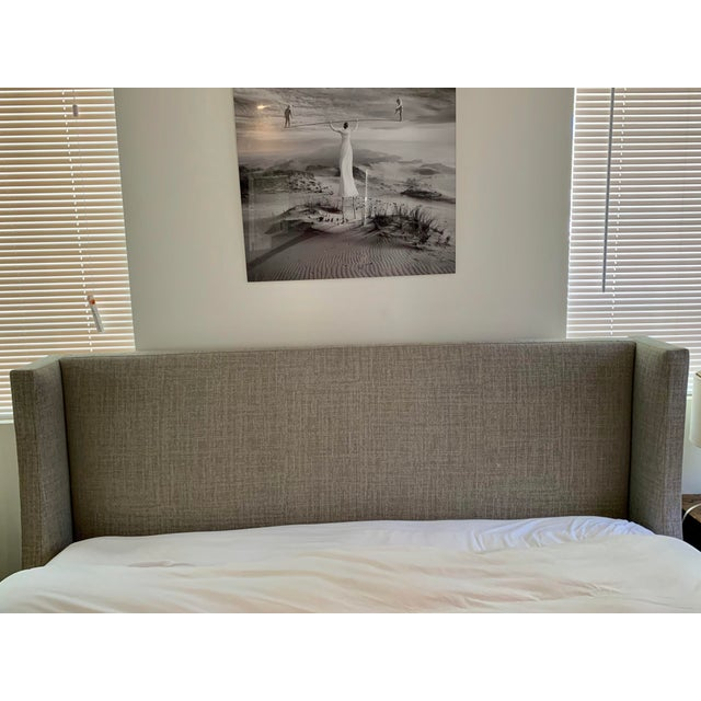 Gray Room and Board Marlo California King Grey Cement Bed Frame For Sale - Image 8 of 9