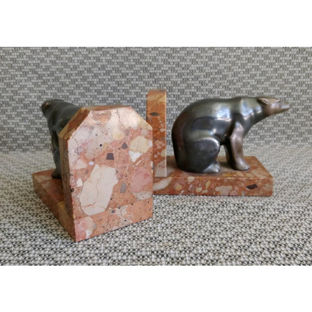 1930s 1930s Art Deco Polar Bear Bookends - a Pair For Sale - Image 5 of 10