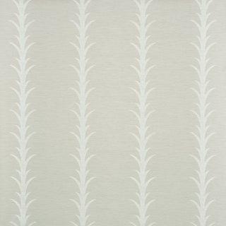 Sample - Schumacher X Celerie Kemble Acanthus Stripe Vinyl Wallpaper in Limestone For Sale