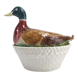 Mid-century Mallard Duck Soup Tureen For Sale