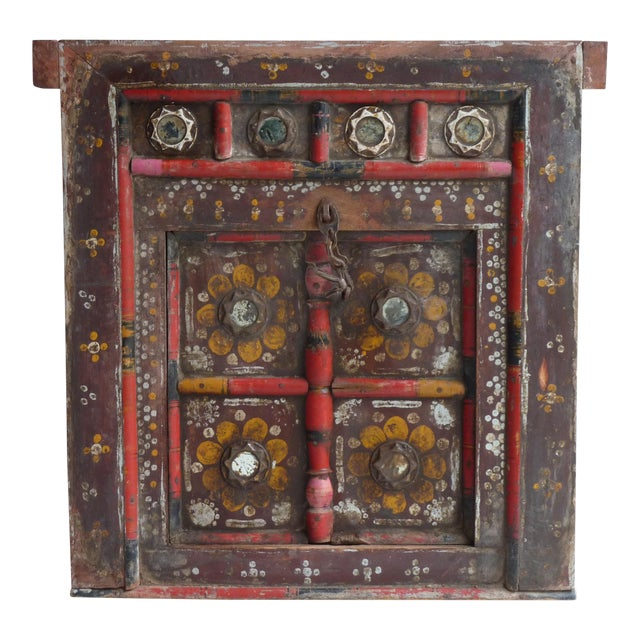 Hand Painted Nepalese Door For Sale