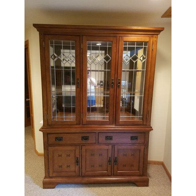 Wooden China Cabinet - Image 2 of 11