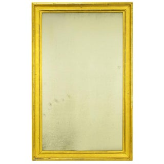 Early 1900's Parcel Gilt and Ochre Lacquered Well Aged Mirror For Sale