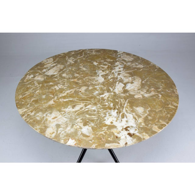 Cesare Lacca 1950s Italian Vintage Round Marble Table by Cesare Lacca For Sale - Image 4 of 12