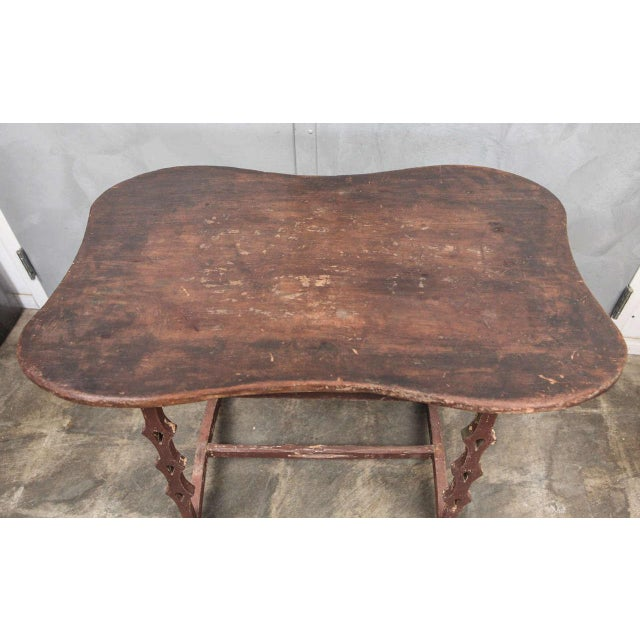 Wood Unique American Folk Art Table, circa 1890's For Sale - Image 7 of 7