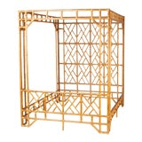 Image of Mid Century Bamboo Canopy Bed For Sale