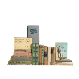 A Soldier's Story : Set of Twenty Decorative Books in Khaki & Olive