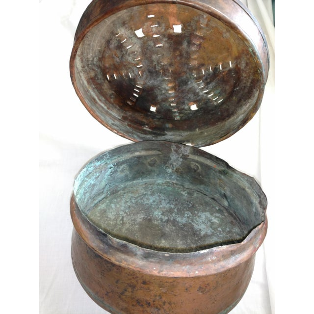 Antique 1840's Copper Bed Warmer Hand Wrought Hearth For Sale - Image 9 of 10