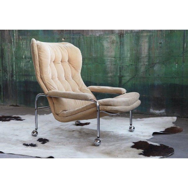 Rare Mid Century Vintage Swedish Lounge Chair by Scapa Rydaholm, 1970s For Sale - Image 10 of 10