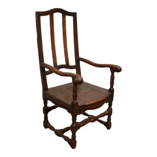 Wooden French Fauteuil For Sale