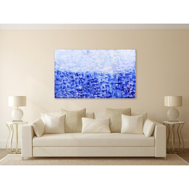 Canvas ''Oceanic Escape'' Contemporary Abstract Acrylic Painting by Clara Berta For Sale - Image 7 of 9