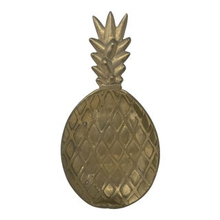 Vintage Brass Pineapple Trinket Dish For Sale